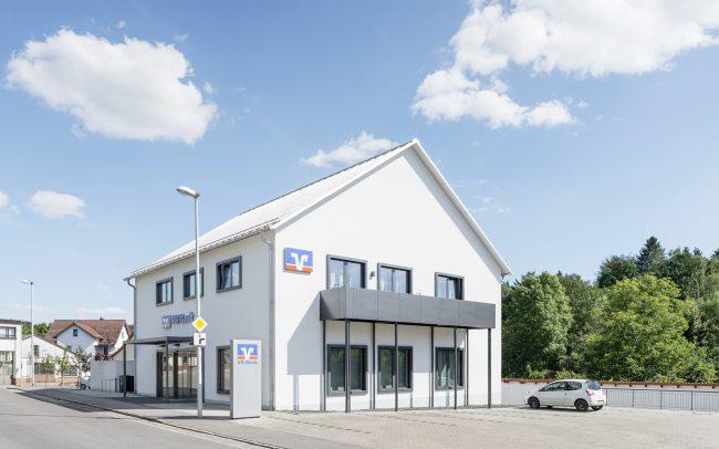 Gewerbebau aus Holz VR-Bank