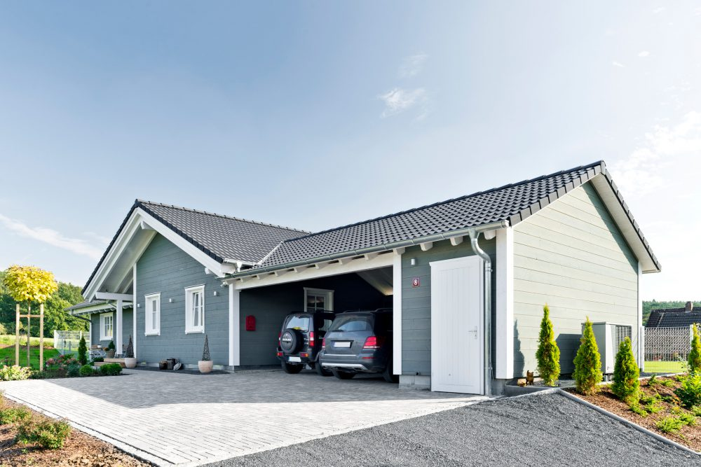 Schwedenhaus mit Carport
