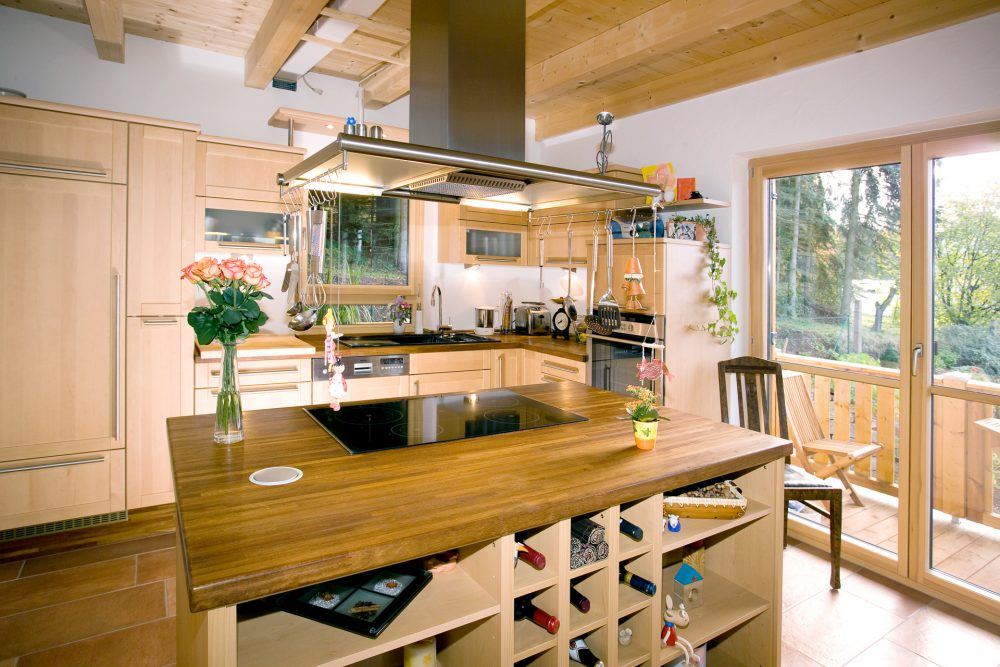 klassisches Holzhaus von innen