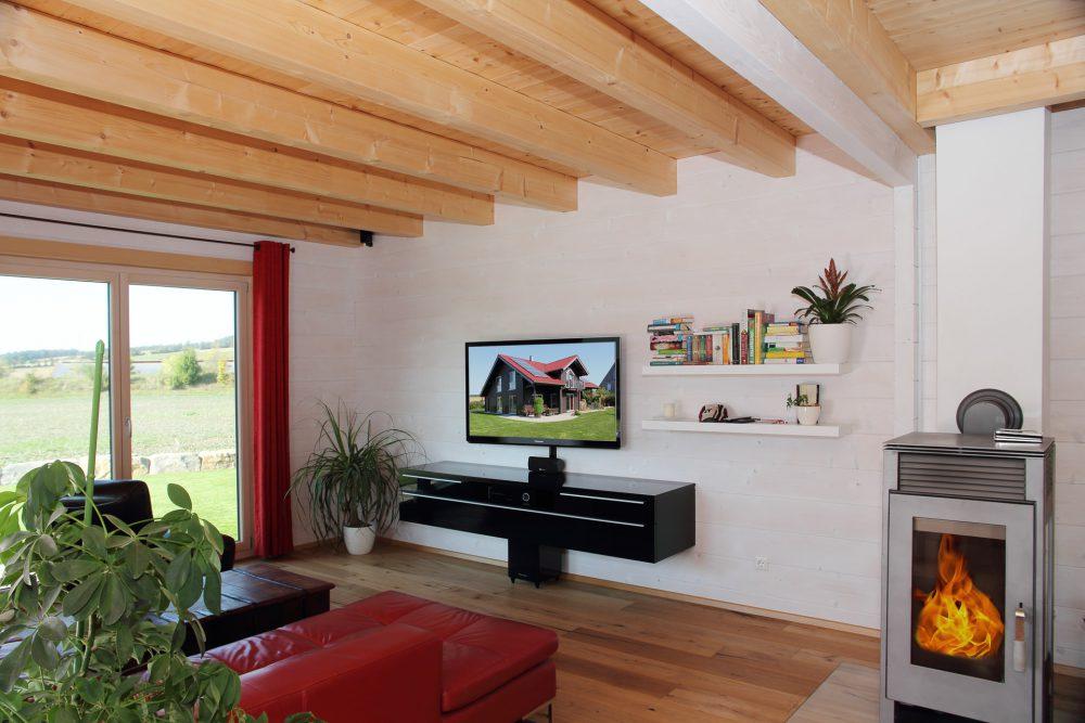 Holzhaus Wohnzimmer