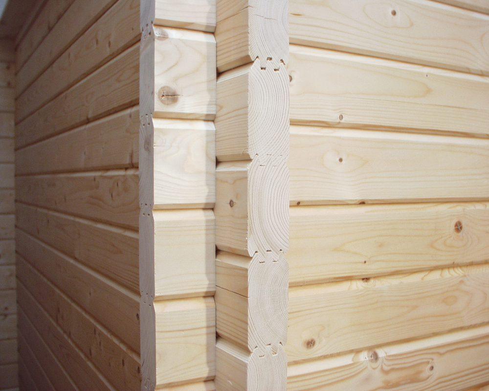 Holzsauna Bauweise Massivholz